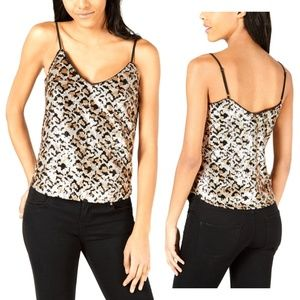 Heartloom Animal-Print Sequined Top size XL New